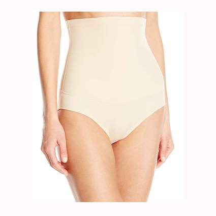nude high waist firm control brief