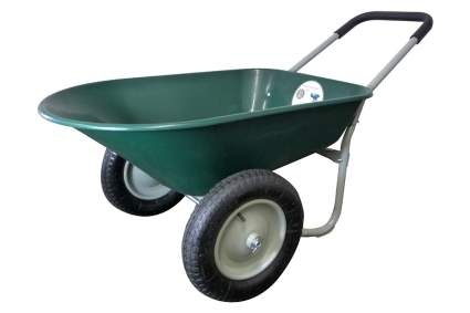 Marathon Dual-Wheel Residential Yard Rover Wheelbarrow