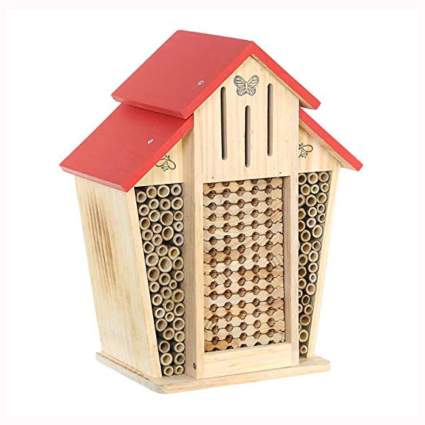 mason bee barn and butterfly shelter