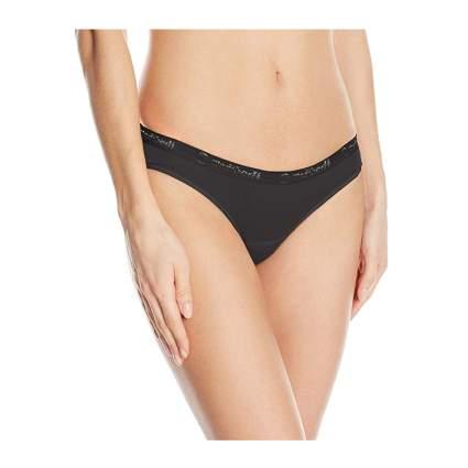 black bamboo period bikini panties