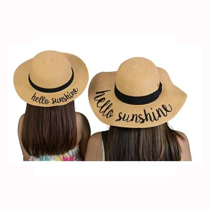 mother daughter straw sun hats