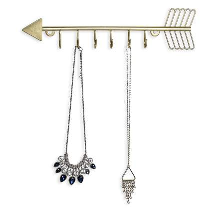 Gold arrow necklace holder