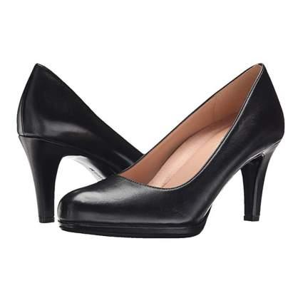 black low platform dress pumps