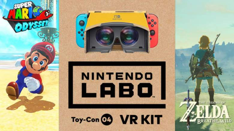 Nintendo Labo VR Breath of the Wild Mario