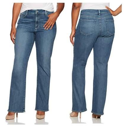light blue bootcut jeans