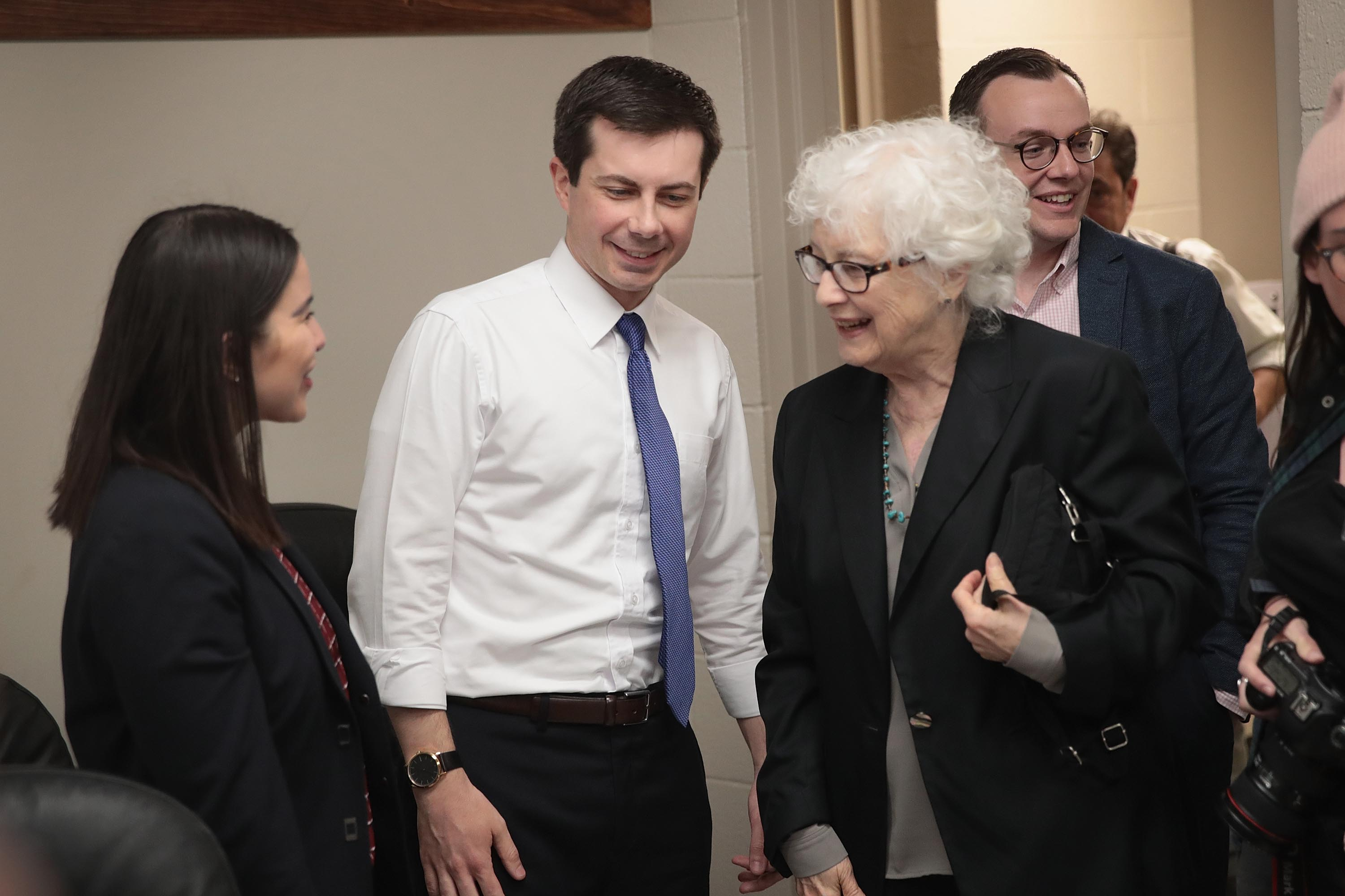 Pete Buttigieg and Anne Montgomery