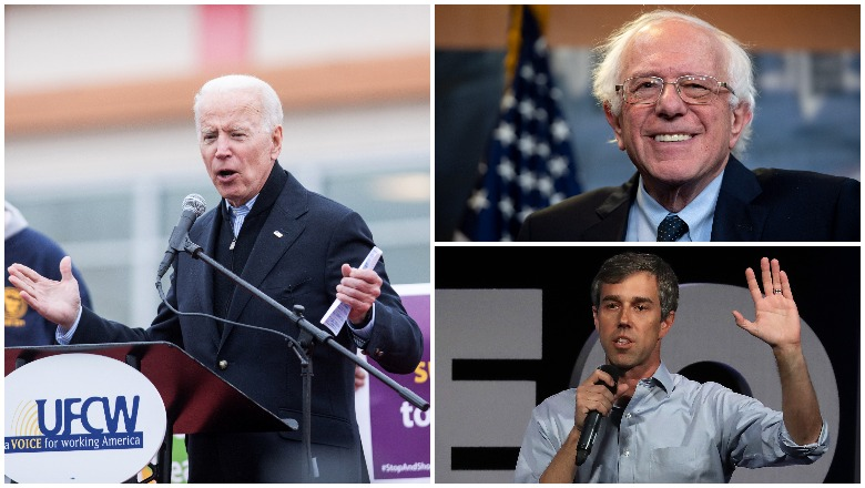 Biden vs Bernie & Beto First Day Fundraising