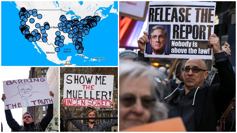 Release the Report Mueller Protests and Crowd SIze