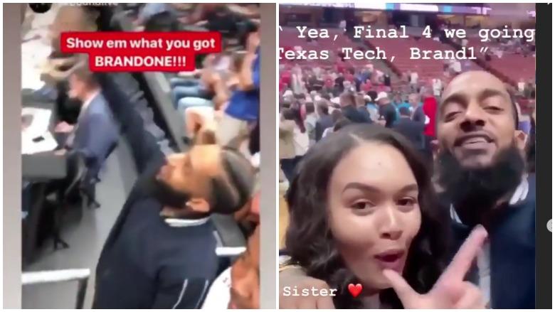 Nipsey Hussle Celebrated With Texas Tech Basketball Team Heavy Com