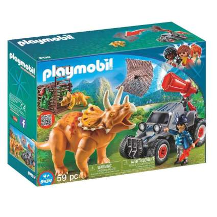Playmobil Enemy Quad with Triceratops Building Set