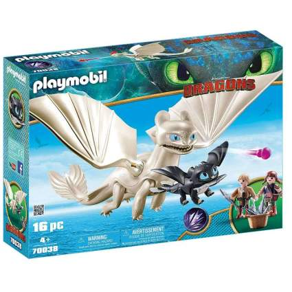 Playmobil How to Train Your Dragon 3 Light Fury with Baby Dragon and Children