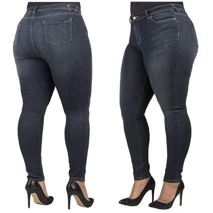 dark wash plus size skinny jeans