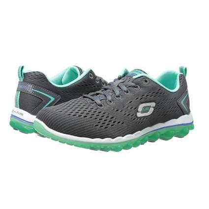 gray and green running shoe