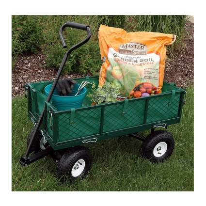 metal garden cart with liner
