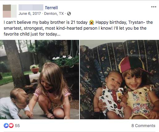 Trystan Terrell Facebook page
