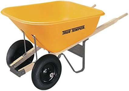The AMES Companies, Inc RP810 True Temper Dual Wheel Poly Wheelbarrow