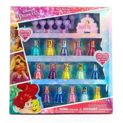 Townley Girl Disney Princess Non-Toxic Peel-Off Nail Polish Set for Kids