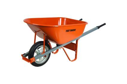 True Temper 6-Cubic-Foot Steel Wheelbarrow