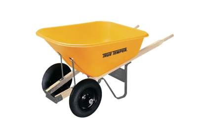 True Temper 8-Cubic-Foot Dual-Wheel Poly Wheelbarrow
