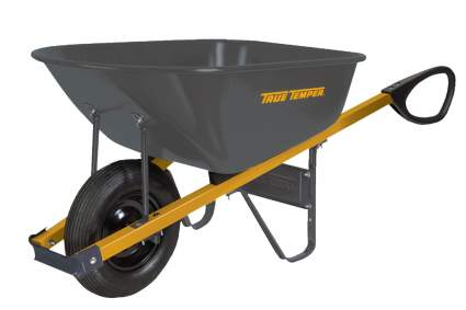 True Temper Total Control Steel Wheelbarrow