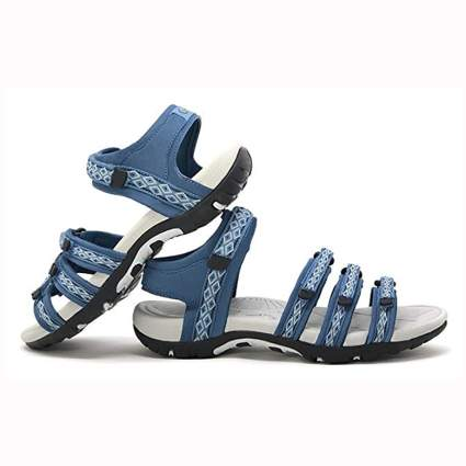 blue multistrap hiking sandals