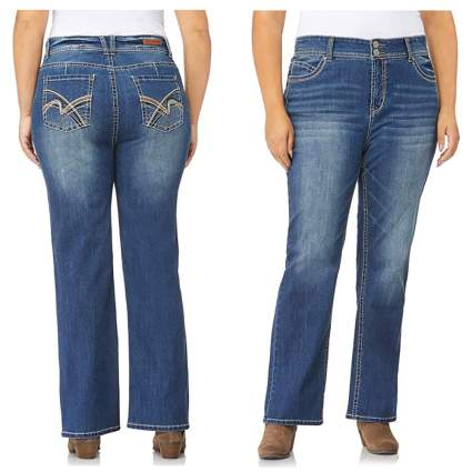 plus size curvy stretch bootcut jeans