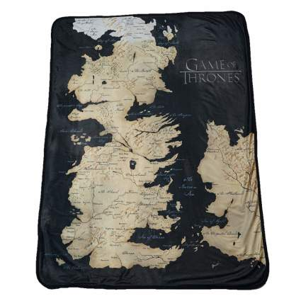 westeros map game of thrones blanket