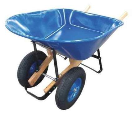 Wheelbarrow, Steel, 8 cu. ft., 2 Pneumatic