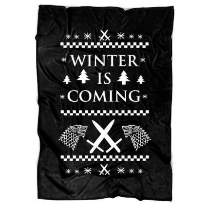 winter is coming game of thrones blanket
