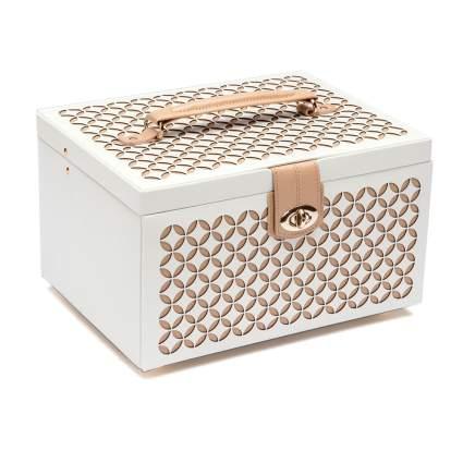 Cream and gold jewelry box