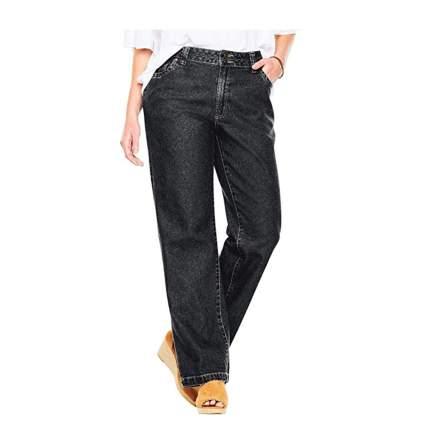 black wide leg cotton jeans