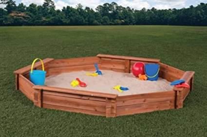 Wooden Backyard Sandbox