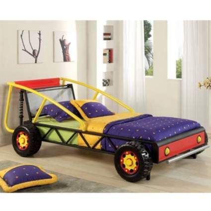 247SHOPATHOME IDF-7104-RY Childrens-Bed-Frames Twin Black