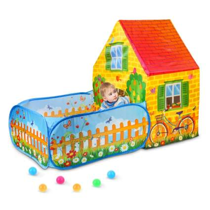 skyNature Kids Play Tent with ball pit