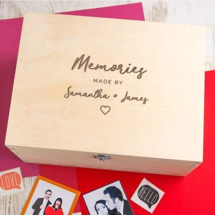 Personalized Memory Box For Couples