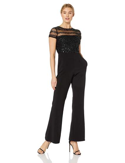 Adrianna Papell Women's Crepe Jumpsuit