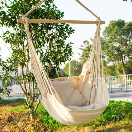 EverKing Hanging Rope Hammock Chair Porch Swing Seat