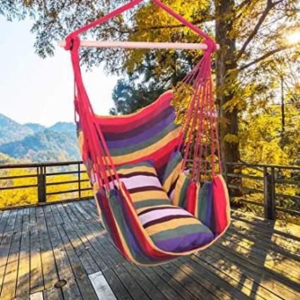 Chino Hanging Rope Hammock Chair Swing Seat