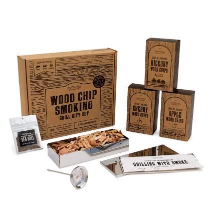 BBQ Smoker Wood Chip Grill Set