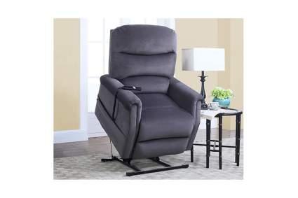 plush gray lift recliner