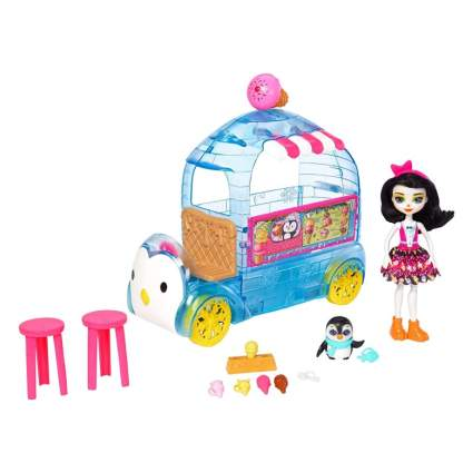 Enchantimals Preena Penguin Doll and Ice Cream Truck Playset