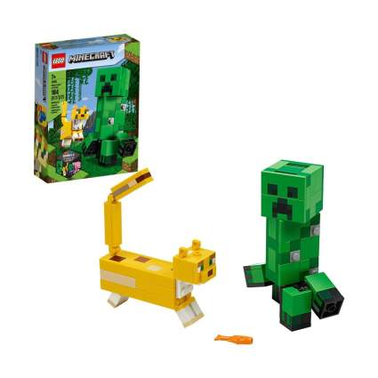 LEGO Minecraft Creeper BigFig and Ocelot Characters