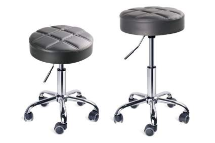 grey stool and different heights