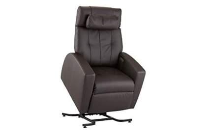 brown zero gravity lift chair
