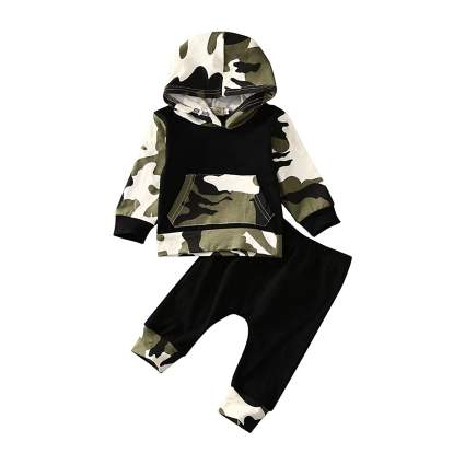 MA&BABY Camouflage Cotton Hoodie Set