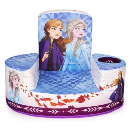 Marshmallow Furniture, Children's Transforming Flip-See-Do Frozen 2 Foam Chair