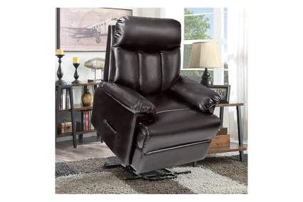 faux leather power lift recliner