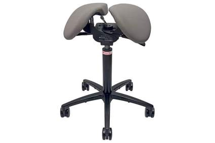 Grey saddle stool from Salli
