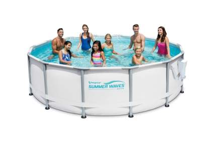 "Summer Waves Elite 14' x 42"" Premium Frame Above Ground Swimming Pool"