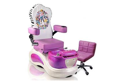 Pink pedicure spa for kids